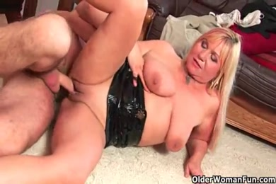 Teen sucks cock and gets face full of cum at the end.
